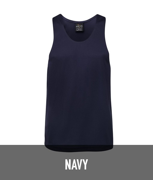 Jb's Wear Plain Poly Singlet 7PS for Touch Oztag and sports teams