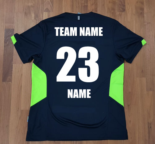 Tee with name and number to back