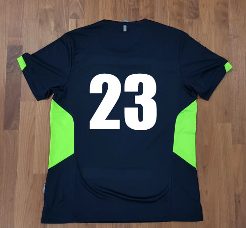 Tee with number to back
